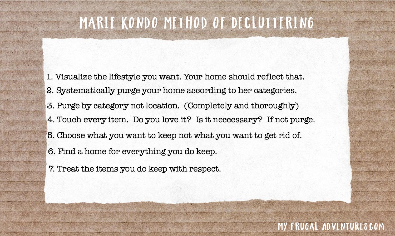 Marie Kondo Method of Decluttering