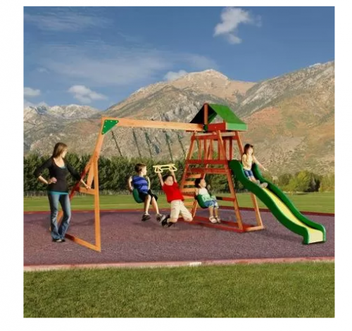 Discovery Cedar Swing Sets as low as $329 - My Frugal ...