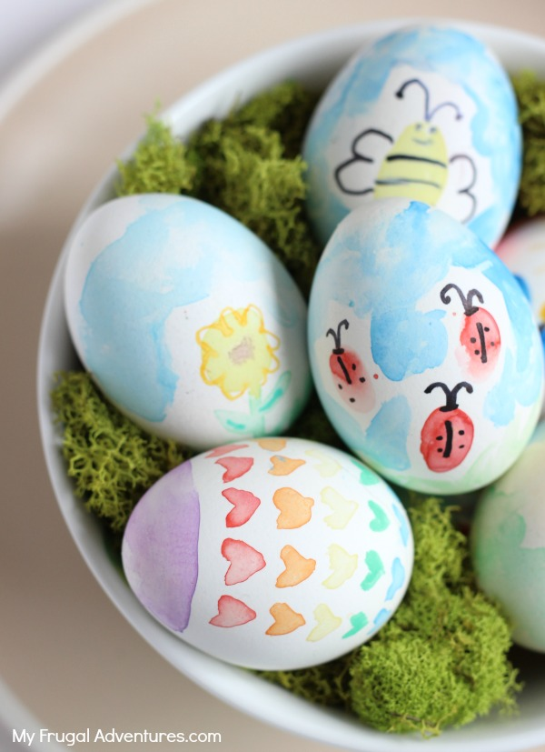 how to watercolor easter eggs