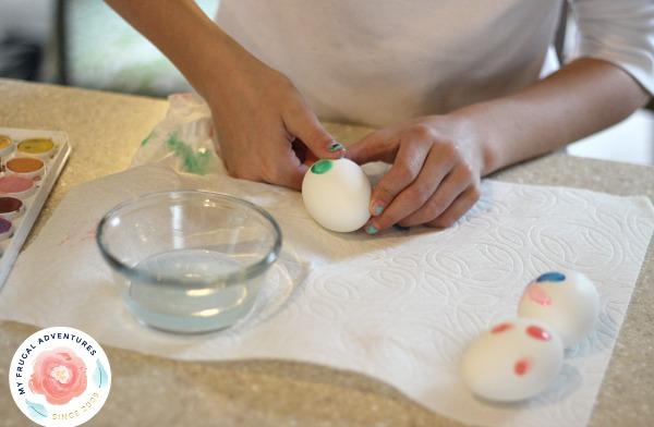 thumbprint easter eggs