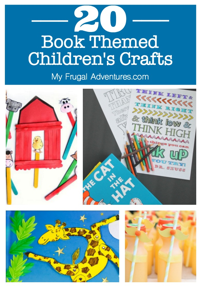20 Book Themed Children's Crafts