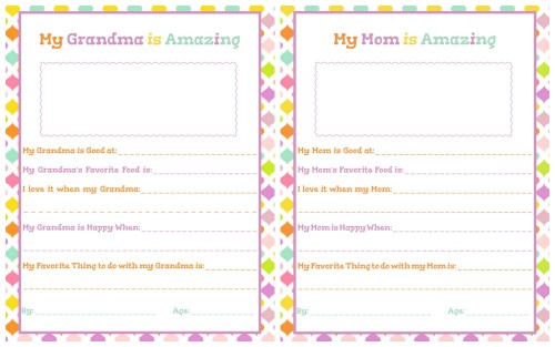 It is a picture of Free Printable Mother's Day Questionnaire with magazine