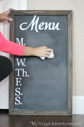 ho to clean a chalkboard