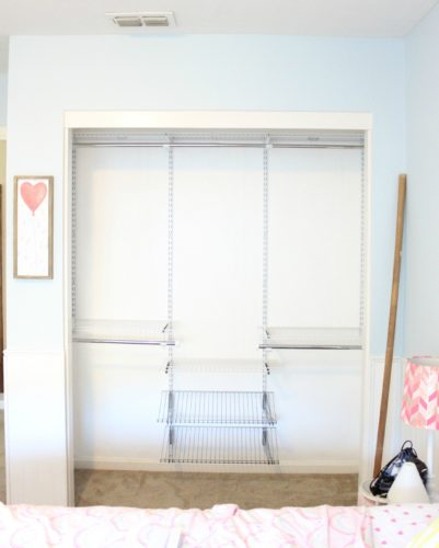 Installing a Rubbermaid closet system