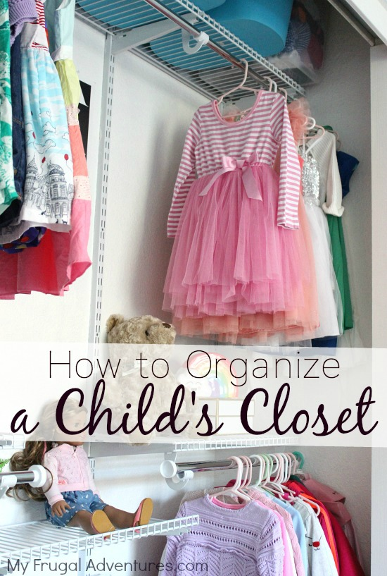 Organized Closet for kids with Rubbermaid