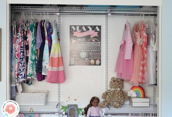 Organized Kid's Closet tutorial