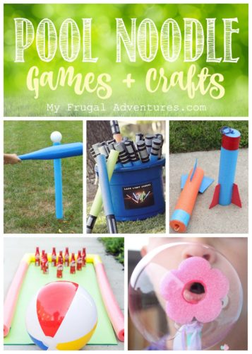 Pool noodle games and crafts