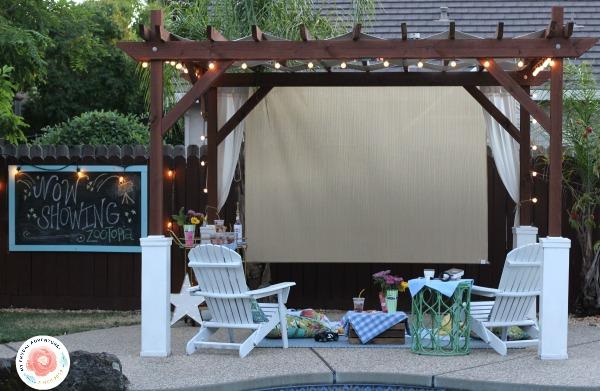 Backyard Movie Ideas outdoor movie night ideas - my frugal adventures