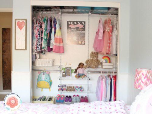 organized closet for kids