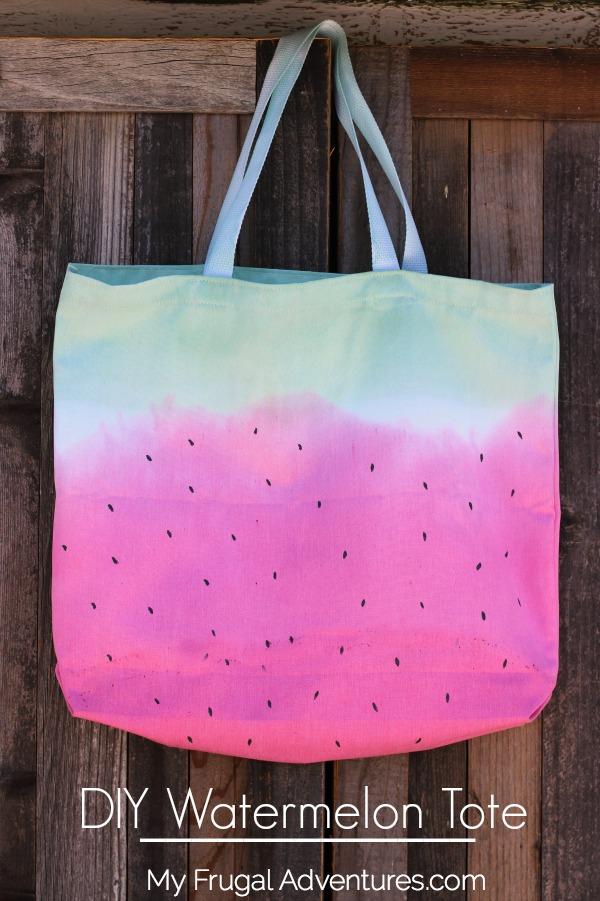 DIY watermelon tote bag