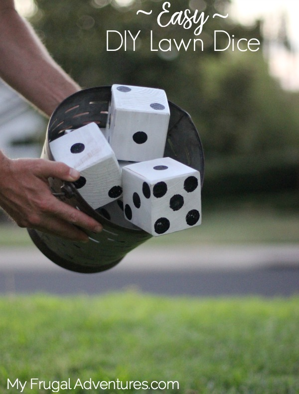Easy DIY lawn dice