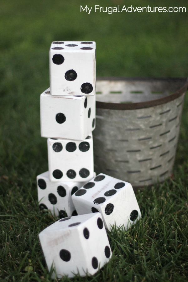 how to make dice for outdoors
