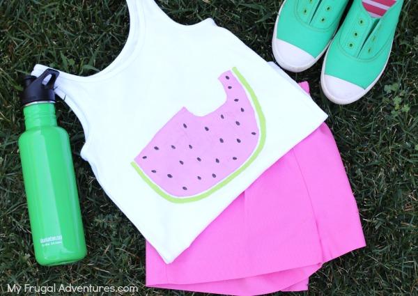 Painted watermelon tshirt
