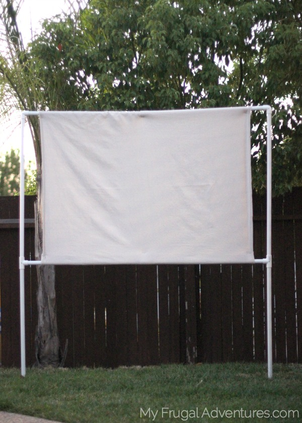How To Build An Outdoor Movie Screen My Frugal Adventures