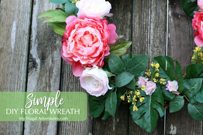 Simple DIY floral wreath