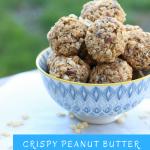 Crispy peanut butter protein bites