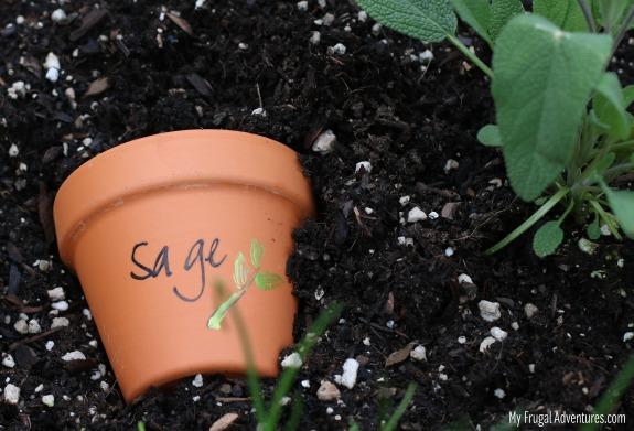 Terra Cotta Garden Marker
