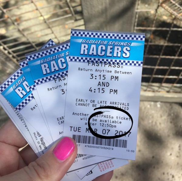 fastpasses at disneyland