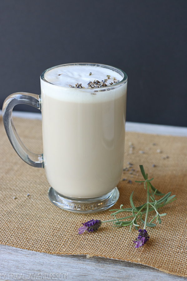 homemade lavender coffee syrup
