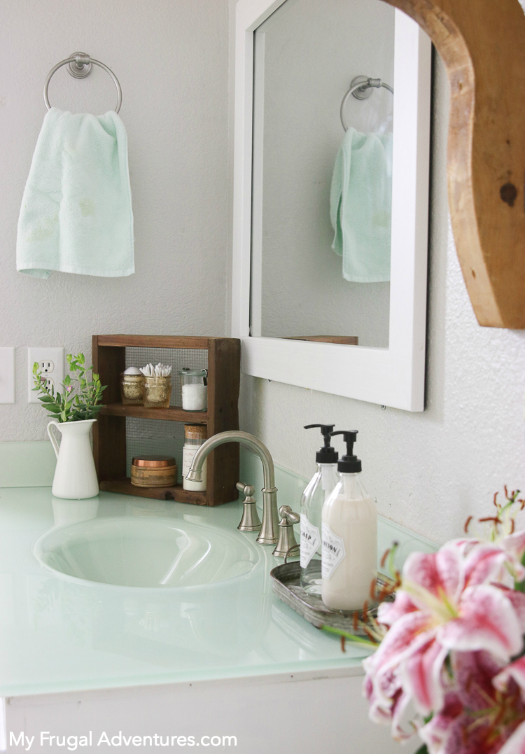 How to Add a Frame to Your Bathroom Mirror - My Frugal Adventures
