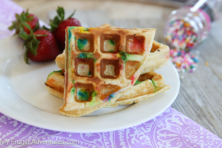 How to make funfetti waffles