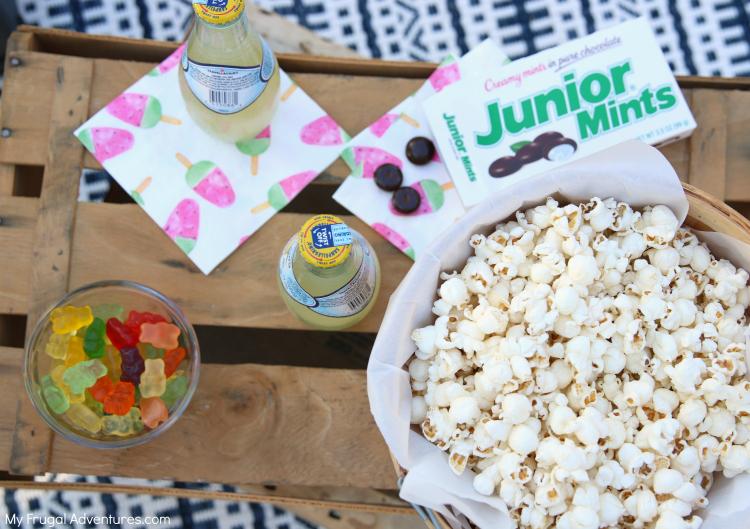 Outdoor Movie Night snacks