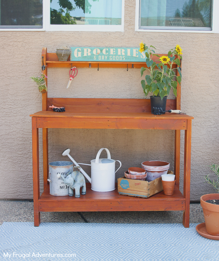 How to Build a Potting Bench 4
