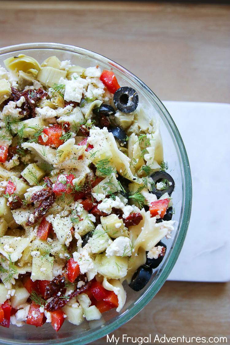 mediterannean pasta salad for summer