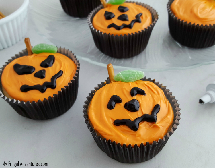 Jack o Lantern Cupcakes