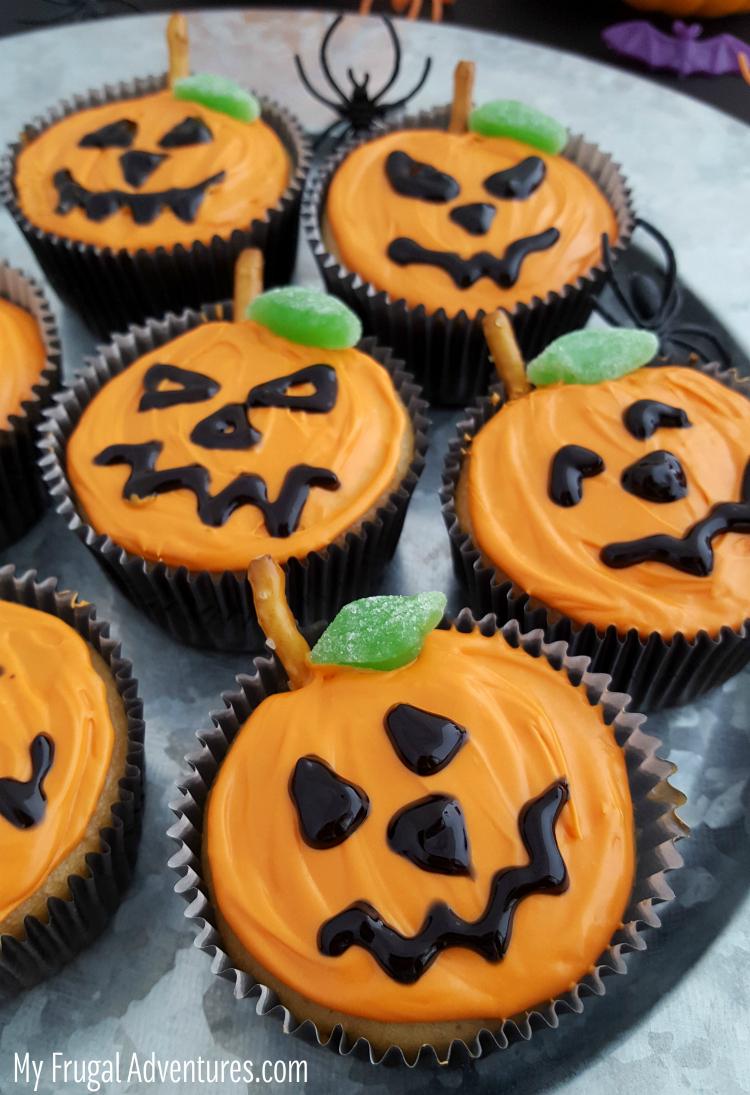 Jack o Lantern Cupcakes 1