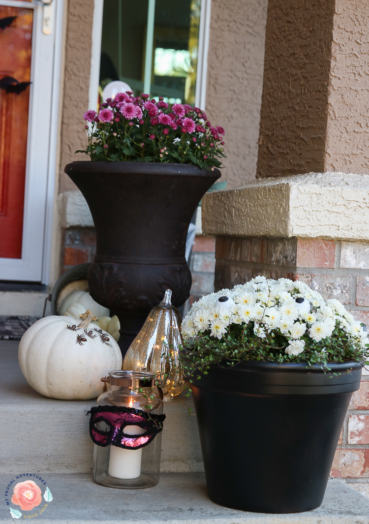 glam halloween porch decor - my frugal adventures