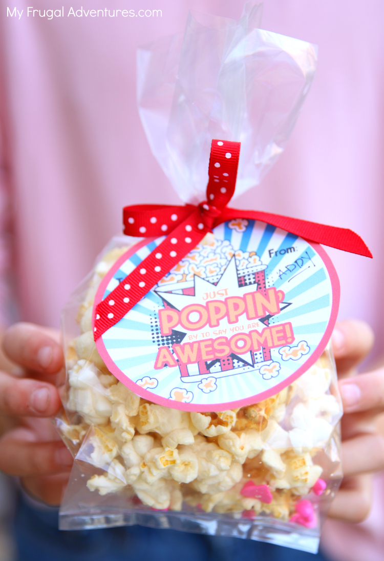 graphic about Popcorn Valentine Printable referred to as Cost-free Printable Valentine: Precisely Poppin Via - My Frugal Adventures