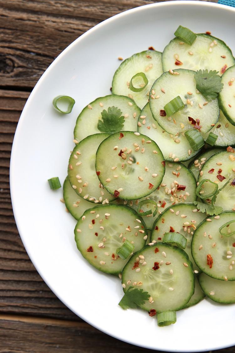 Shanghai Cucumber recipe on myfrugaladventures.com. Crisp and delicious copycat PF Changs cucumber recipe.