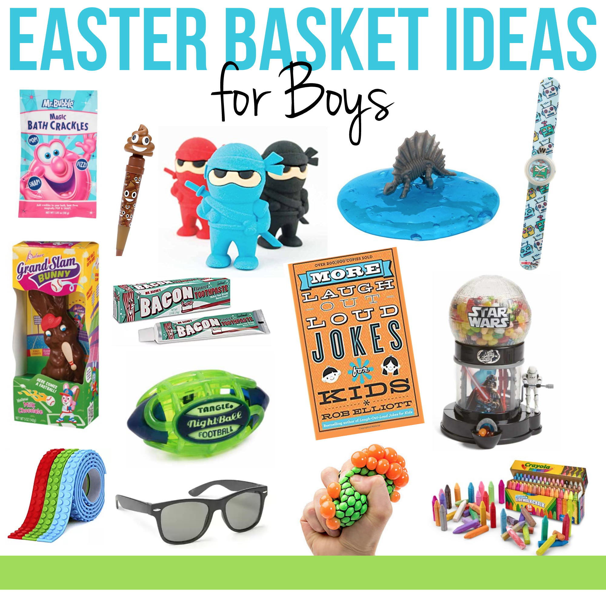 Easter basket ideas for boys on myfrugaladventures.com. Cute little gift ideas for boys.
