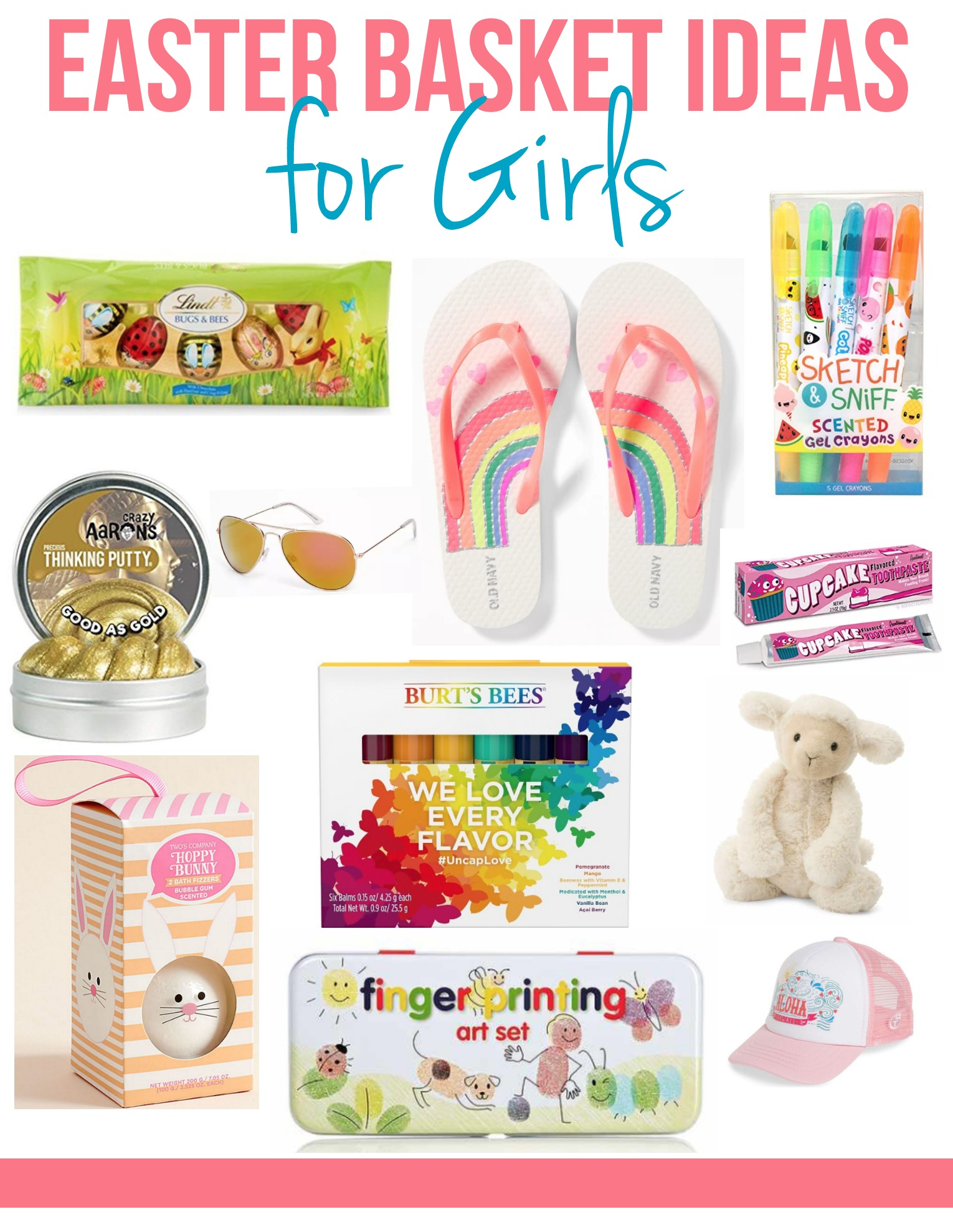 Easter basket ideas for girls on myfrugaladventures.com. Cute little gift ideas for girls.