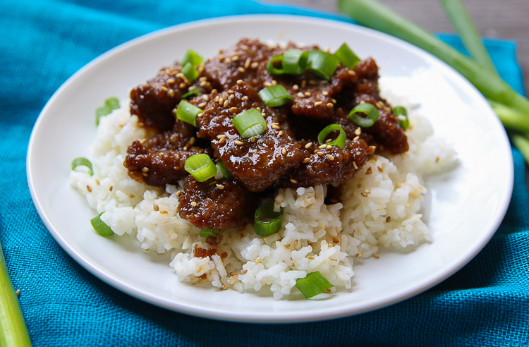 Copycat PF Changs Mongolian Beef Recipe on MyFrugalAdventures.com. Simple, fast and delicious recipe for weeknight dinners.