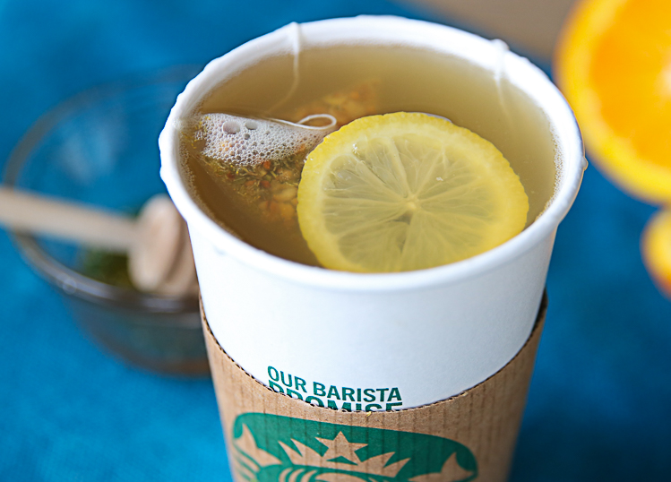 Copycat Starbucks Citrus Defender recipe posted on My Frugal Adventures.com