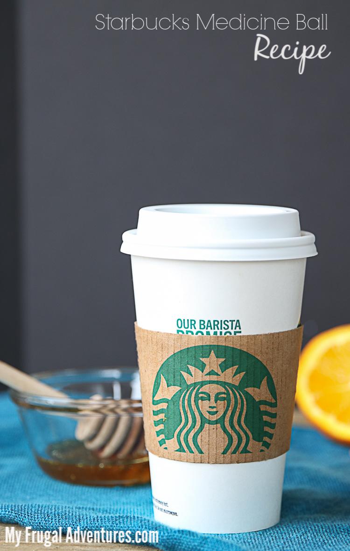 Starbucks Medicine Ball Recipe posted on MyFrugalAdventures.com