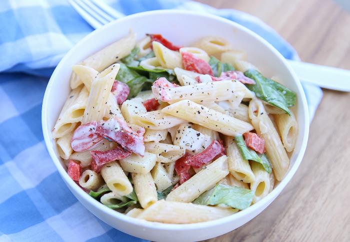 Smoked Mozzarella Pasta Salad Recipe