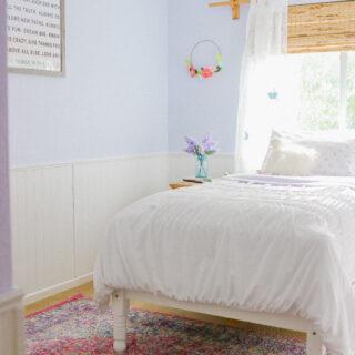 Lavender Girl's Bedroom Decor